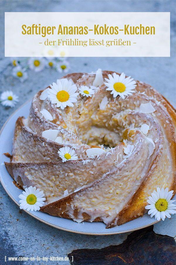 Saftiger Ananas Kokos Kuchen Rezept Mit Bildern Kaffee Und Kuchen Ananas Kokos Kuchen Und Torten