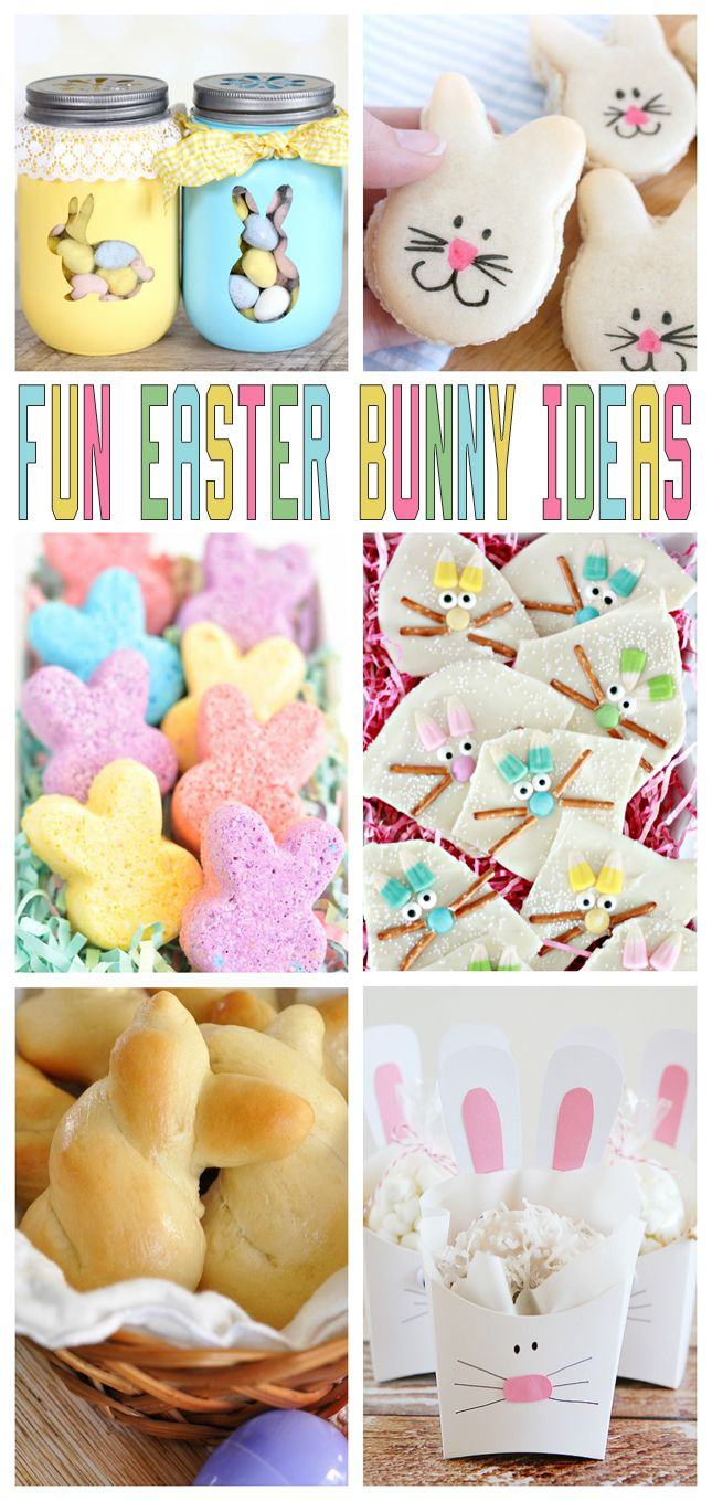 Fun Easter Bunny Ideas   Easter crafts, treats, printables and dinner ideas.