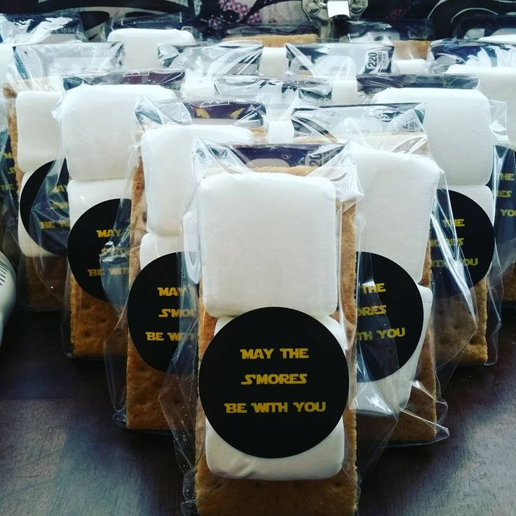 Star Wars Party Favors! May the S'mores be with you! # starwars #maythesmoresbewithyou #smores #starwarsparty