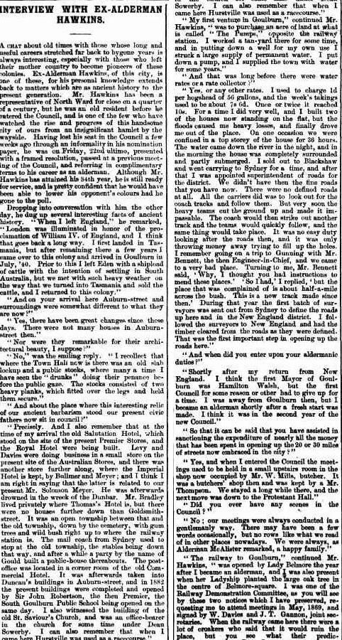 Goulburn Evening Penny Post (NSW : 1881 - 1940), Saturday 9 March 1895, page 1