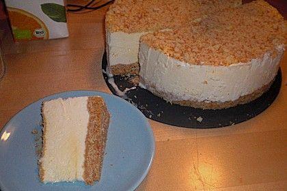 Osteiscake  ( Käse - Eis - Kuchen mit Löffelbiskuits oder Butterkeksen ) Bewertung: Ø 4,3.