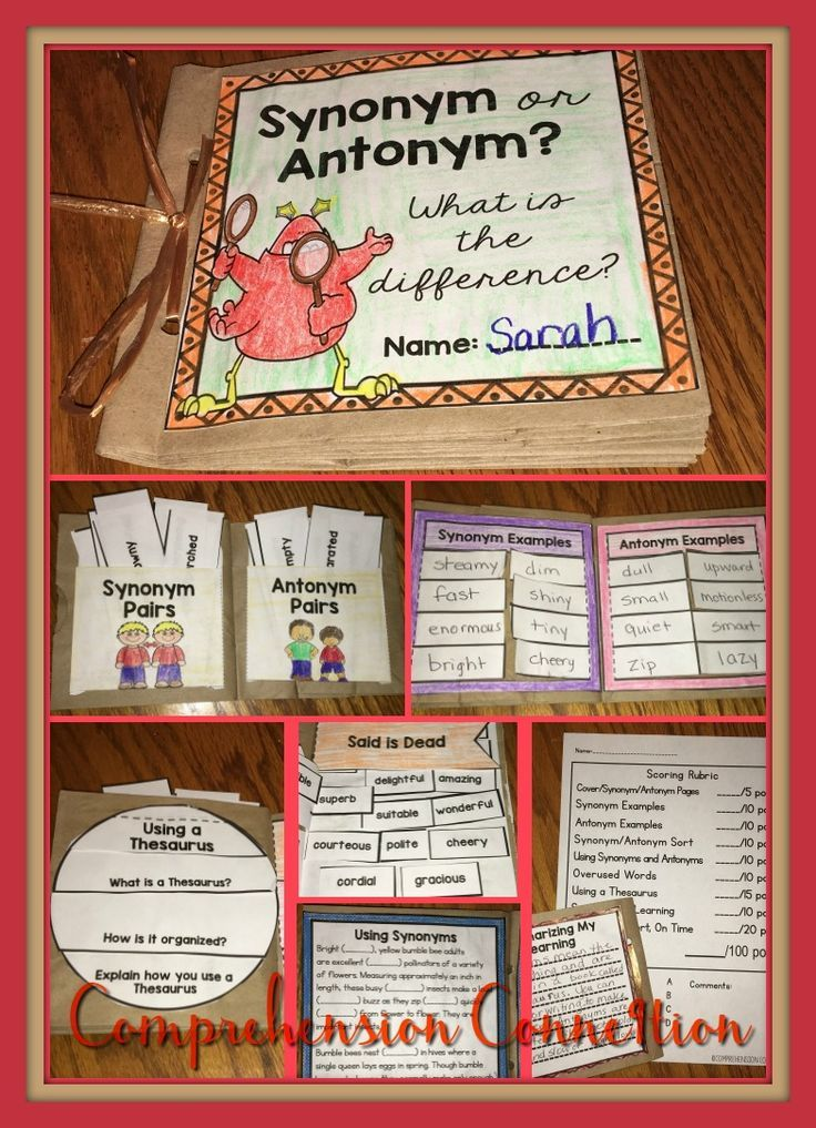 Need a fun hands project for your students' ELA block to practice Synonyms and Antonyms? Look no further. This paper bag mini book project hits many of the teaching points for Synonyms and Antonyms. and can be used as a work station, in interactive notebooks, or as an at home project. Students explore the difference between synonyms and antonyms, give examples, sort examples, explore a thesaurus and practice using it for several activities, and work on overused words.