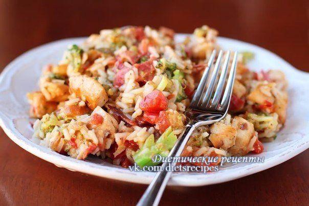 Рис с брокколи и курицей|Рецепты