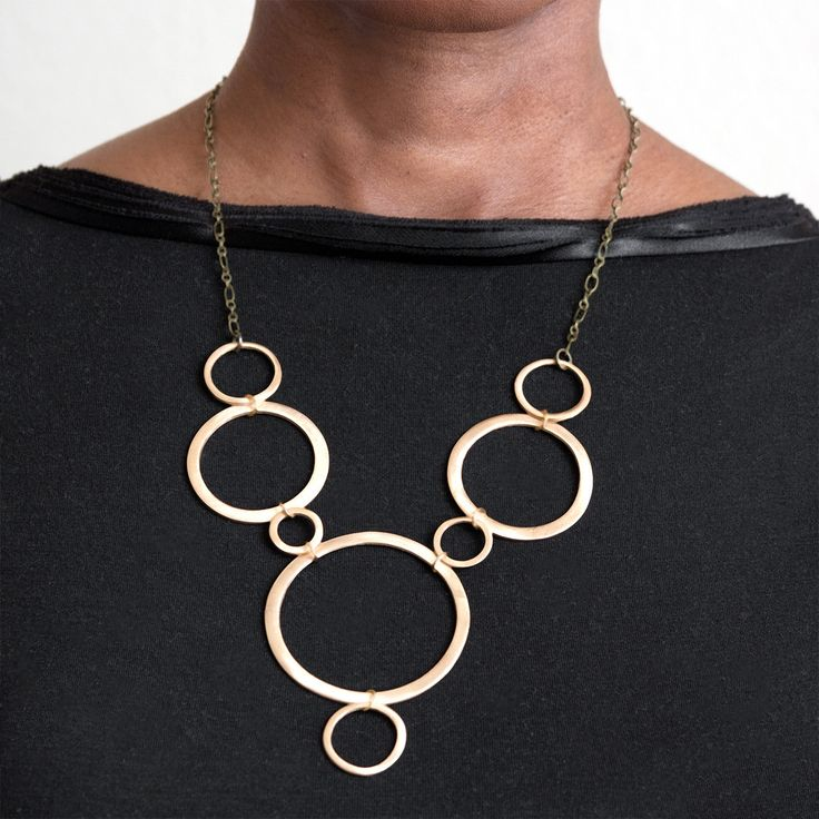 Althea Necklace // Minimalist Architectural Style Jewelry