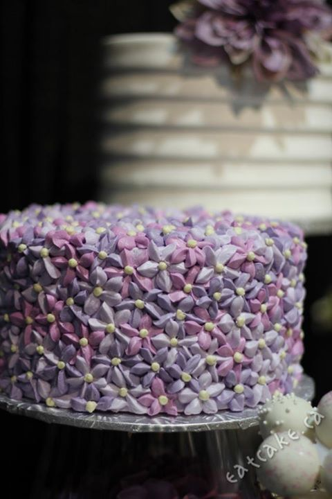 Buttercream Flower Cake Buttercream Lilac Flowers In
