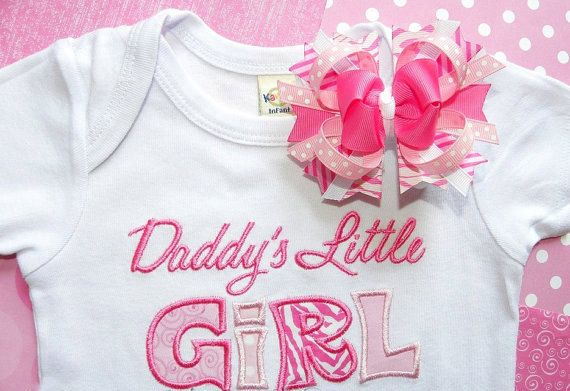 Hey, I found this really awesome Etsy listing at https://www.etsy.com/listing/217637472/daddys-little-girl-shirt-bow-set-in-18