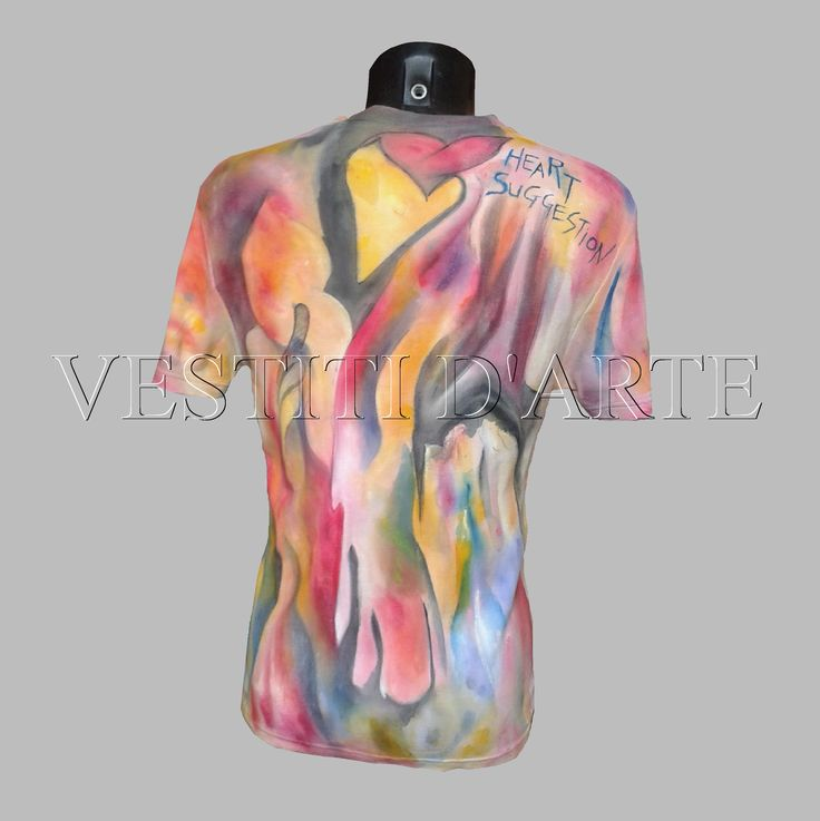 Hand painted tshirt one of a kind garment #clothing #fashion #tshirt #menstyle #clothingart #art #cool #awesome #artclothing #weddingtshirts #festival #love #colourful #wearableart #plussize #plussizeclothing #hippieclothes #model #bohemian #bohemianclothing #boho #bohoclothing PLEASE SEE FULL GARMENT DETAILS AT https://www.vestitidarte.com