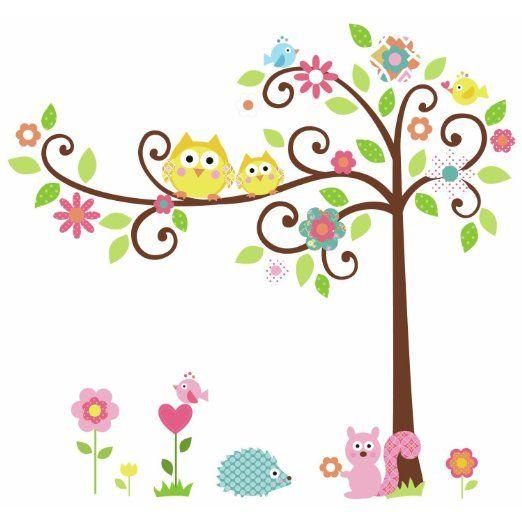 Roommates rmk1439slm pegatinas para pared con dise o de rbol y animales hogar decorar - Pegatinas para decorar ...
