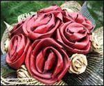 photi of flax flower bouquet by Artiflax