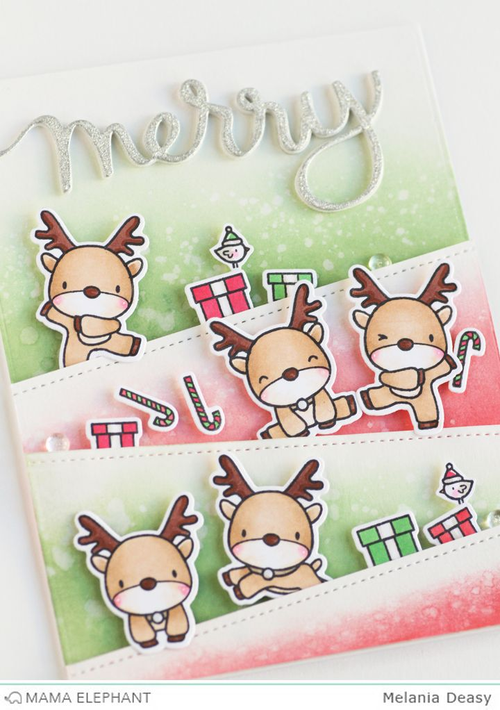 Mama Elephant Stamp Highlight : Reindeer Games