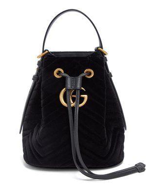 8f3ec446ce5 GG Marmont mini velvet bucket bag