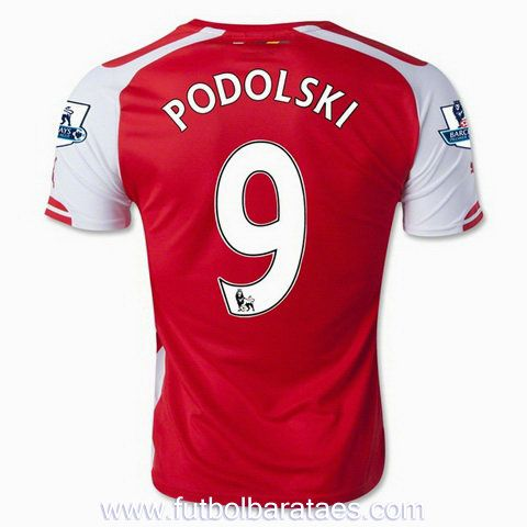 comprar camiseta de Podolski 1st Arsenal 2015 baratas