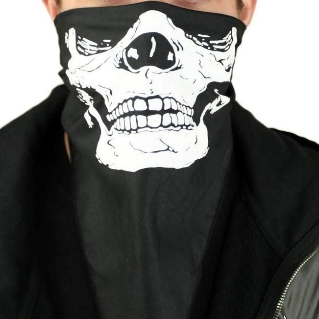Skull Bandana Halloween Handkerchief Skeleton Face Mask Neck Cowboy Bandit Scarf #LegAvenue #Accessory