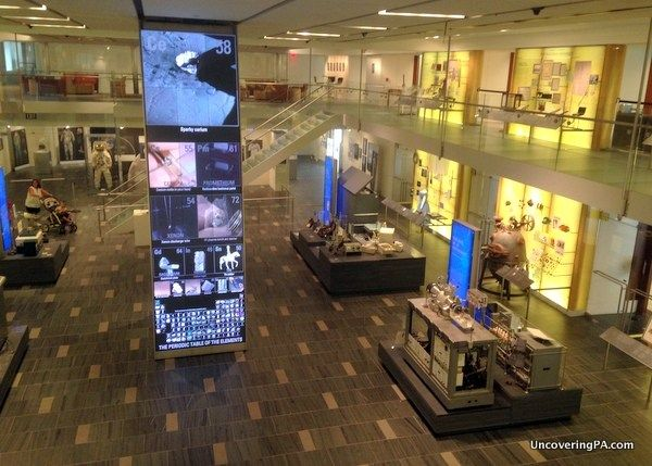 The interior of the Chemical Heritage Foundation Museum in Philadelphia, Pennsylvania.