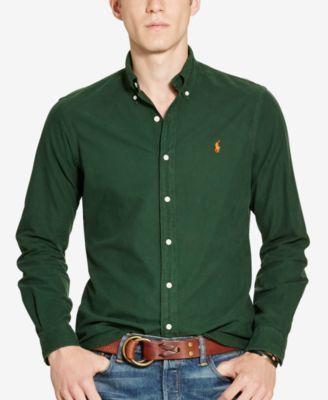 Polo Ralph Lauren Men's Garment-Dyed Oxford Shirt
