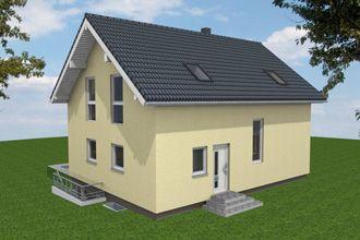 Bautagebuch Einfamilienhaus - 3D-Modell vorn