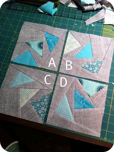 Circle of geese block tutorial: I like these going around & around even better than in a straight line!