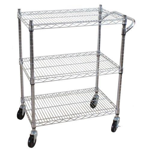Kitchen Trolley: Oceanstar 3 Tier Heavy Duty All-Purpose Utility Cart