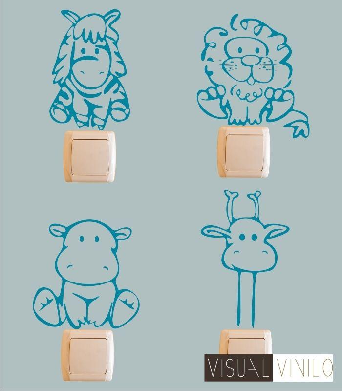Vinilo decorativo para interruptores y enchufes. Una original idea para decorar y personalizar hasta el ultimo rincón de su cuarto.  http://www.visualvinilo.net/23-detalles