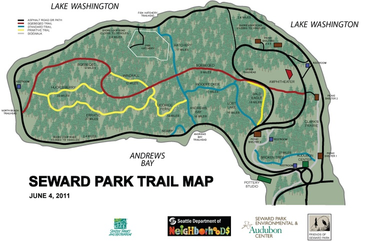 seward park trails near seattle Fitness Pinterest Parks Trail maps and