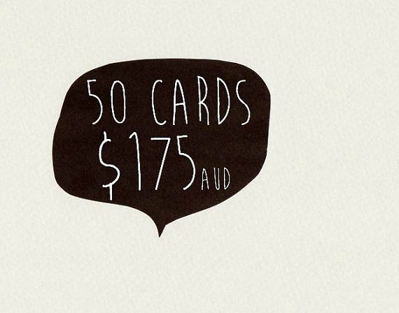 50 CARDS . choose 50 cards . greeting card . by ThePaisleyFive