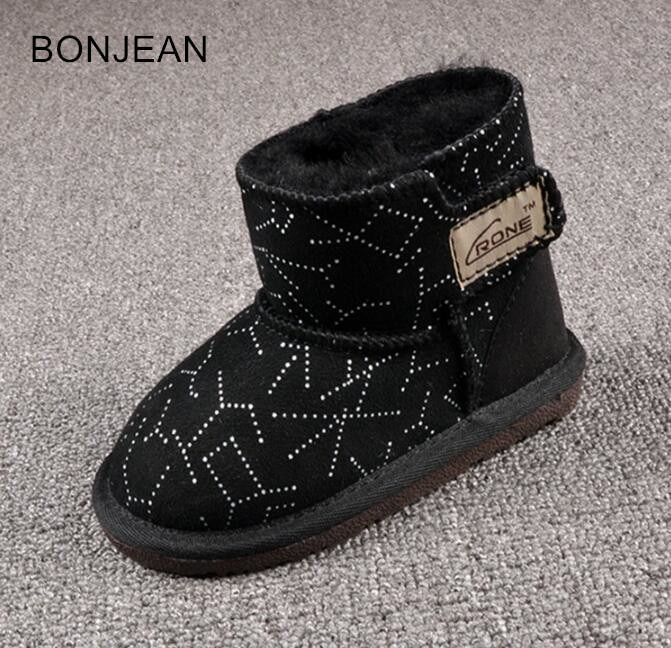 c775d733bee8 2018 Children's snow boots winter new boots cotton shoes shoes rivet boys  boots kids boots