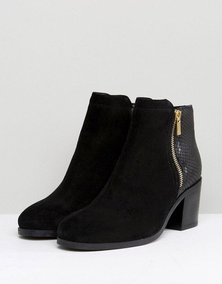 Carvela Heeled Side Zip Up Boot - Black