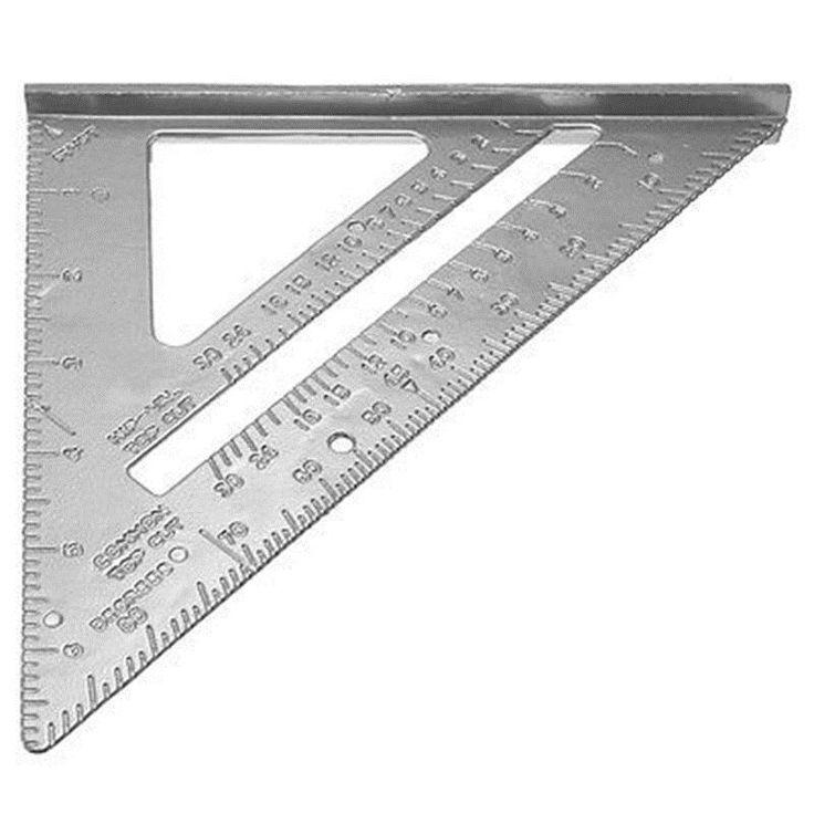 Professional 7inch Alloy Square Protractor Framing Carpenter Measuring Tool Measurement material escolar school supplies