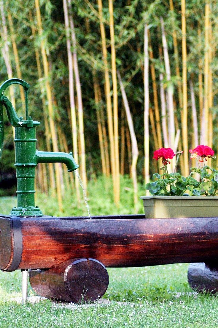 Landhaus Stil Par Excellence: Eine Hauseigene Tränke Im Garten Sorgt Für  Erfrischung! #