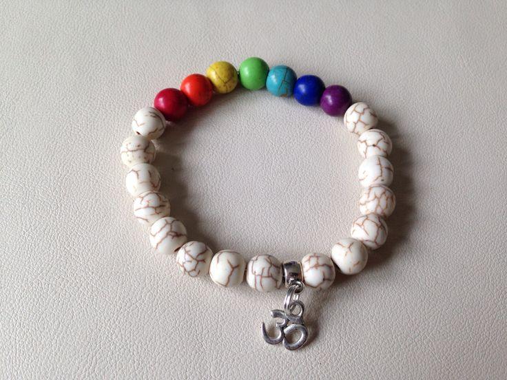 Chakra Stretch Bracelet. Magnesite 8mm beads https://www.facebook.com/JediJewellery