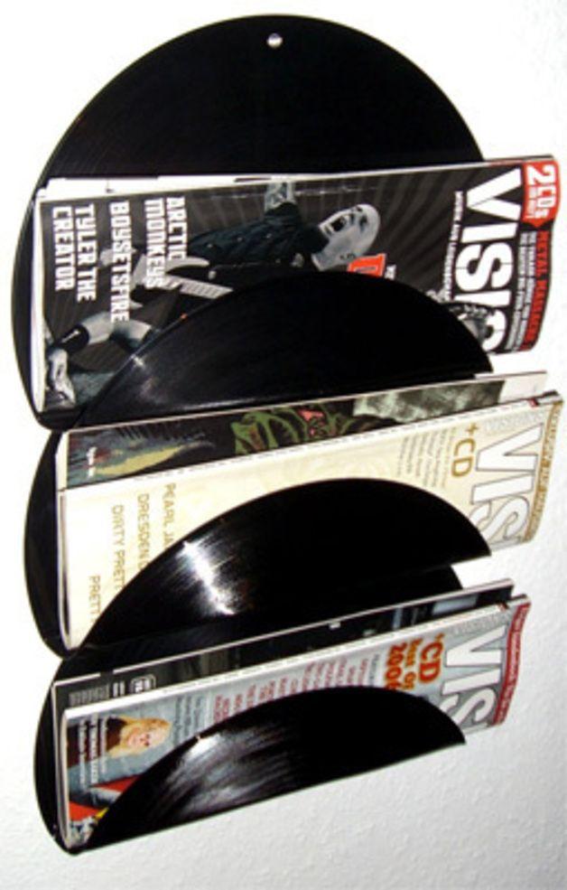 TROXXY™ Zeitungshalter Vinyl Schallplatten