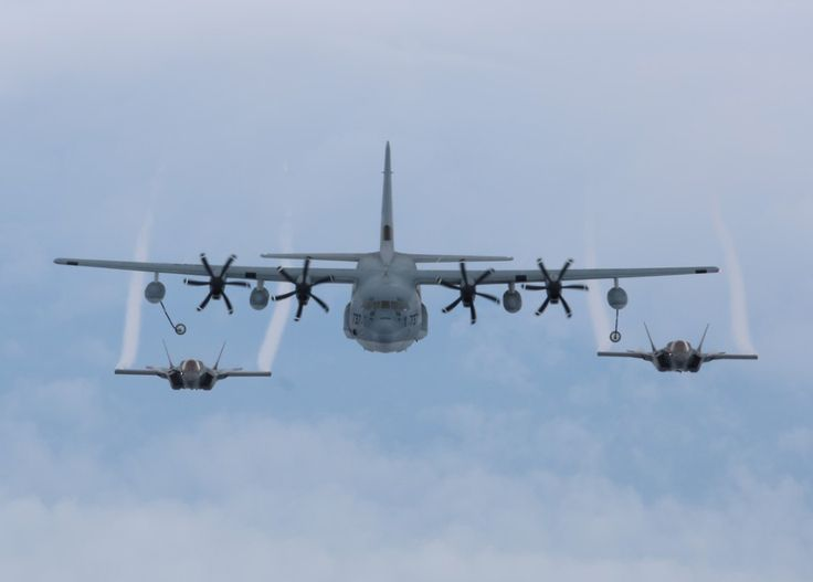 Awesome pics of KC 130 mid flight F 35B refueling (12 HQ Photos)