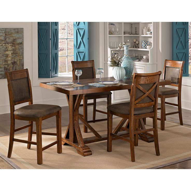 american signature furniture austin walnut dining room counter height table