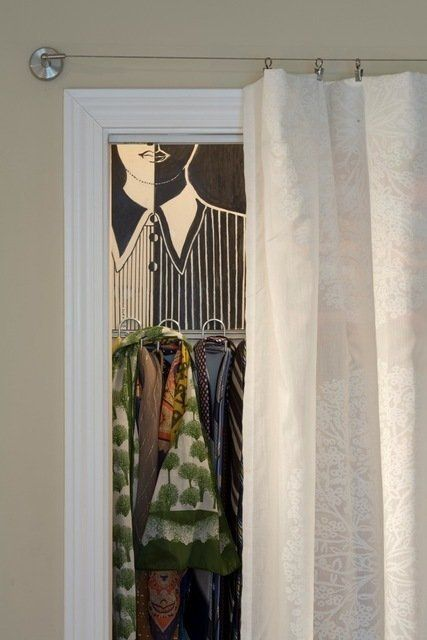 25 best ideas about closet door alternative on pinterest for Door substitute ideas