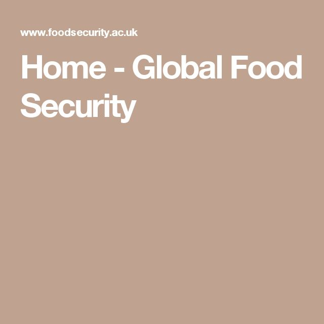 Home - Global Food Security