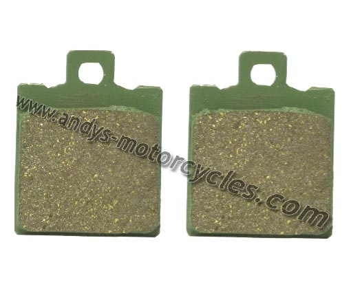 Details:    Kyoto FA47 brake pads to fit the front brake calliper of all Aprilia RS50 models, aged 1996 to 1998.     Each purchase is for 1 pair of brake pads (per Calliper).     Kyoto brake pads are an extremely high quality brake pad, offered by Andy's Motorcycles, at an extremely competitive price.    Kyoto brake pads have exceptional braking power, whilst constantly ensuring the minimum wear to brake discs.