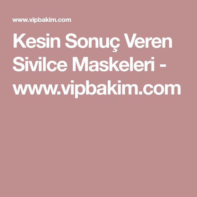 Kesin Sonuç Veren Sivilce Maskeleri - www.vipbakim.com