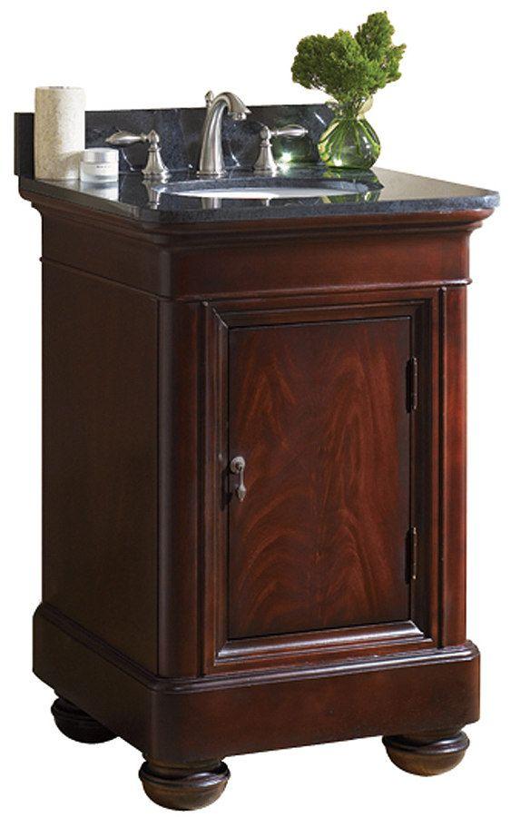 24 inch Antique Bathroom Vanity Granite Top | Tan brown ...