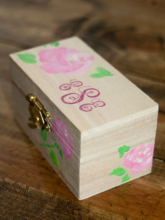 Wooden Sorority Pin Trinket Box. by artxidesigns on Etsy