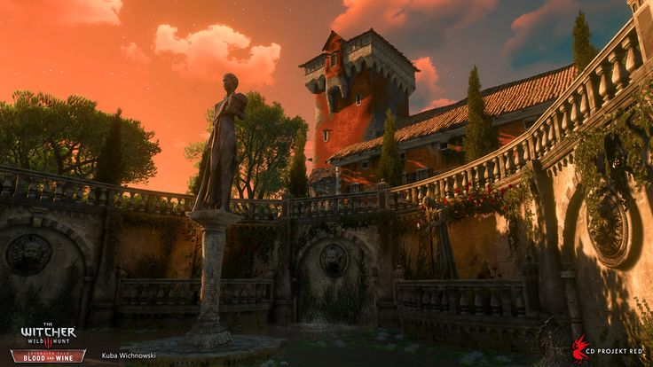 The castle of Dun Tynne was probably the largest location I've worked on during the Blood and Wine development; the largest, but also my favourite. The second biggest castle in Toussaint (after Beauclair), plus a fairly rich one as well - that synopsis meant I could up the ante quite a bit.  Dun Tynne featured in the main story path, which tied me closely with the quest team. That helped in shaping the general feel of the location, since the quest led the White Wolf on something of a gau...