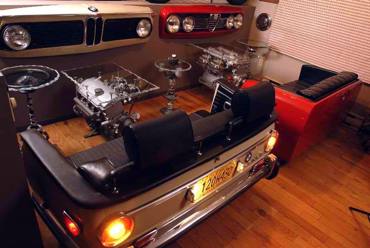 Ford Man Cave Decor : Bmw alfa furniture via just a car guy repurposed cars