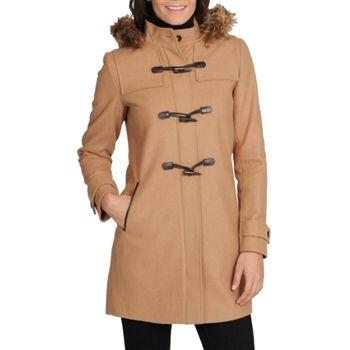 Tommy Hilfiger Women's Camel Wool Hooded Duffle Coat. SHOP IT NOW
