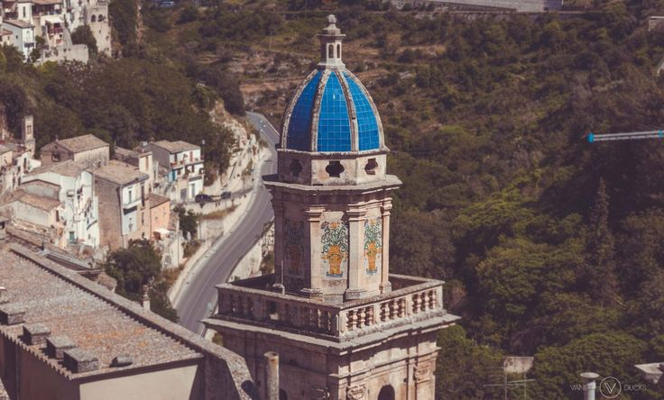 Clocher à Ragusa, en Sicile