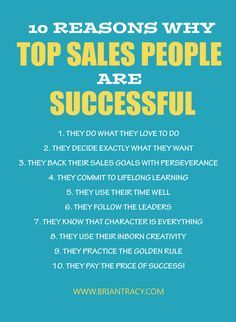 10 Reasons Why Top Sales People are Successful: Boost Your Sales Career