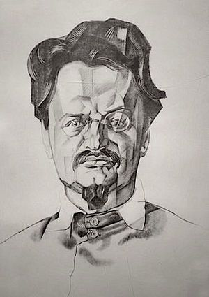 Portrait of Trotsky | 1923 | by Yuri Annenkov
