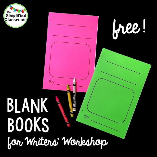Free Blank Books for Writers' Workshop! Awesome writing center tool.