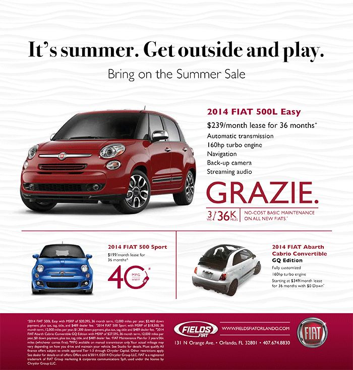 Best Fields FIAT Orlando Special Offers Images On - Fiat special offers