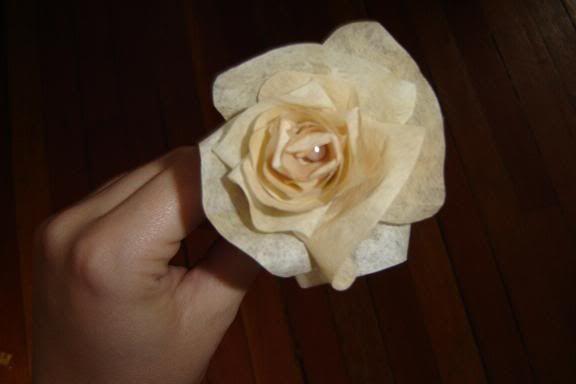 coffee filter rose!