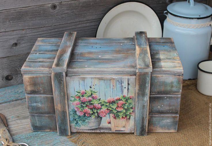 """Купить """"Розовая герань"""" короб - голубой, розовый, герань, герань в горшках, ящик, короб"""