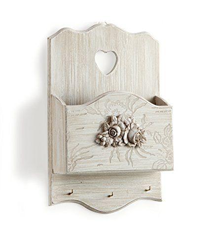MONTEMAGGI Porta posta da appendere in legno con tre ganci per appendelere le chiavi. Appendi chiavi e porta lettere bellissimo complemento in stile shabby chic country decorato con fiori e rose. dimensioni: 10x24x35 cm MONTEMAGGI http://www.amazon.it/dp/B00PW1F854/ref=cm_sw_r_pi_dp_e-bKwb147RB7X